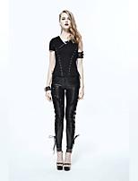 abordables -Cosplay Steampunk Costume Femme Pantalon Noir Vintage Cosplay Polyester Pantalon long