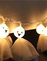 baratos -5m Cordões de Luzes 20 LEDs Branco Quente Decorativa 220-240 V 1conjunto