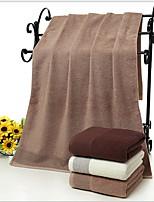 abordables -Qualité supérieure Serviette de bain, Couleur Pleine Polyester / Coton Salle de  Bain 1 pcs