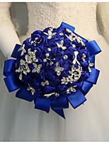Недорогие -Свадебные цветы Букеты Свадьба / Свадебные прием Камни и кристаллы / Шелк 11-20 cm