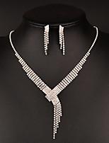 billiga -Dam Vit Pärlor Smyckeset - Oäkta pärla Gypsophila Klassisk Omfatta Pann-smycken Pärlhalsband Vit Till Bröllop Party