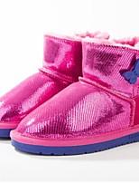 Недорогие -Девочки Обувь Кожа Зима Зимние сапоги Ботинки Пайетки для Для подростков Золотой / Пурпурный / Розовый