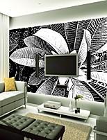 Недорогие -обои / фреска холст Облицовка стен - Клей требуется Цветочный принт / Полосы / волосы / 3D