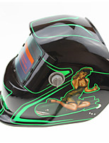 Недорогие -солнечная автоматическая потемнение сварочный шлем 107 флуоресцентная девушка