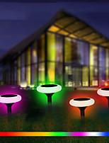 Недорогие -BRELONG® 1шт 1 W Свет газонные Водонепроницаемый / Работает от солнечной энергии / Декоративная RGB 3.7 V Уличное освещение / двор / Сад 1 Светодиодные бусины