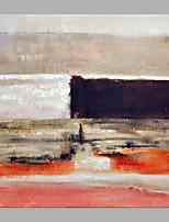 baratos -Pintura a Óleo Pintados à mão - Abstrato Clássico / Modern Sem armação interna