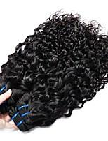 Недорогие -3 Связки Бразильские волосы Перуанские волосы Волнистые 8A Натуральные волосы Необработанные натуральные волосы Wig Accessories Подарки Косплей Костюмы 8-28 дюймовый Естественный цвет