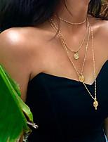 Недорогие -Жен. Многослойность Цепочка - Золотой, Серебряный 60.0  * 60.0  * 2.0 cm Ожерелье Бижутерия 1шт Назначение Свадьба, На выход