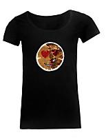 abordables -Tee-shirt Grandes Tailles Femme, Géométrique Chic de Rue