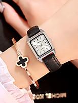 Недорогие -Жен. Наручные часы Кварцевый 30 m Новый дизайн Повседневные часы PU Группа Аналоговый На каждый день Мода Черный / Белый / Красный - Черный Коричневый Красный Один год Срок службы батареи