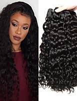 abordables -Lot de 3 Cheveux Brésiliens Cheveux Péruviens Ondulation 8A Cheveux Naturel humain Cheveux humains Naturels Non Traités Accessoires pour Perruques Cadeaux Tissages de cheveux humains 8-28 pouce Noir