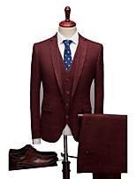 billiga -Enfärgad Standardpassform Elastan / polyster Kostym - Trubbig Singelknäppt 1 Knapp