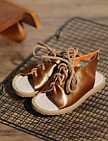 Недорогие -Девочки Обувь Кожа Лето Удобная обувь Сандалии для Дети (1-4 лет) Коричневый