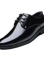 Недорогие -Муж. Официальная обувь Полиуретан Осень Деловые Туфли на шнуровке Дышащий Черный