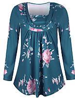abordables -Tee-shirt Femme, Couleur Pleine / Fleur Basique