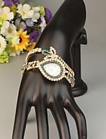 baratos -FEIS Mulheres Bracele Relógio Quartzo Cronógrafo Lega Banda Analógico-Digital Fashion Dourada - Azul