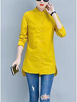 abordables -chemise de sortie pour femmes - col rond de couleur unie