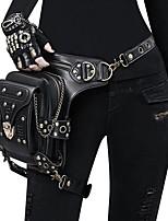abordables -Cosplay Steampunk Costume Unisexe Bal Masqué sac Noir Vintage Cosplay Chrome Similicuir