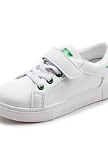 Недорогие -Мальчики / Девочки Обувь Искусственная кожа Наступила зима Удобная обувь Кеды На липучках для Дети / Для подростков Белый / Черно-белый / Wit En Groen