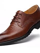 Недорогие -Муж. Официальная обувь Полиуретан Осень Мокасины и Свитер Дышащий Черный / Коричневый
