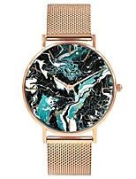 Недорогие -Жен. Наручные часы Японский Кварцевый Секундомер Очаровательный Творчество Нержавеющая сталь Группа Аналоговый Мода Цветной Серебристый металл / Золотистый / Розовое золото -  / Два года