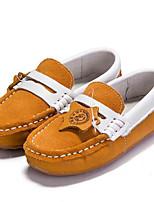 Недорогие -Мальчики / Девочки Обувь Кожа Весна / Осень Удобная обувь На плокой подошве для Дети Желтый / Синий
