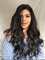 Недорогие -человеческие волосы Remy Полностью ленточные Лента спереди Парик Бразильские волосы Естественные кудри Парик Ассиметричная стрижка 130% 150% 180% Плотность волос Модный дизайн Мягкость Женский Sexy