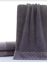 abordables -Qualité supérieure Serviette, Points Polka / Bloc de Couleur Polyester / Coton Salle de  Bain 1 pcs