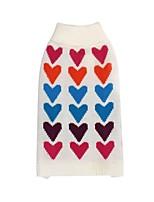 abordables -Chiens / Chats Pull Vêtements pour Chien Imprimé / Cœur Blanc Textile Costume Pour les animaux domestiques Homme / Femme Décontracté / Quotidien / Garder au chaud