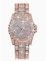 abordables -Femme Montre Bracelet Quartz 30 m Etanche Imitation de diamant Alliage Bande Analogique Luxe Mode Argent / Doré / Or Rose - Or Argent Or Rose