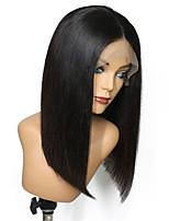 Недорогие -Не подвергавшиеся окрашиванию человеческие волосы Remy Полностью ленточные Парик Бразильские волосы Естественный прямой Шелковисто-прямые Парик Стрижка боб Стрижка каскад 150% Плотность волос
