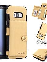 Недорогие -Кейс для Назначение SSamsung Galaxy S9 Plus / S9 Бумажник для карт / Защита от удара / Защита от пыли Кейс на заднюю панель Однотонный Мягкий ТПУ для S9 / S9 Plus