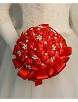 Недорогие -Свадебные цветы Букеты Свадьба / Свадебные прием Бусины / Шелк 11-20 cm