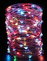 Недорогие -3M Гирлянды 60 светодиоды Разные цвета Декоративная Аккумуляторы AA 1 комплект