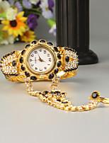 baratos -FEIS Mulheres Bracele Relógio Quartzo Cronógrafo Lega Banda Analógico-Digital Fashion Dourada - Preto