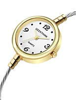 Недорогие -Жен. Дамы Часы-браслет Кварцевый Повседневные часы Cool сплав Группа Аналоговый Мода Зеленый / Золотистый - Серебряный Золотистый Золото / Белый