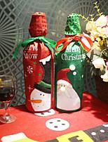 Недорогие -Мешки для вина / Рождество / Декоративные наборы Семья Ткань Круглый Для вечеринок / Оригинальные Рождественские украшения