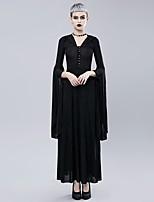 abordables -Cosplay Gothique Costume Femme Costume de Soirée Costume Noir Vintage Cosplay Velours Polyester Pantalon long Poète