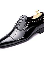 Недорогие -Муж. Комфортная обувь Полиуретан Осень На каждый день Туфли на шнуровке Дышащий Черный