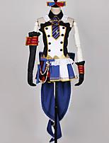 billiga -Inspirerad av Love Live Cosplay Animé Cosplay-kostymer cosplay Suits Lappverk / Blandad färg Klänning / Handskar / Rosett Till Herr / Dam