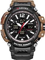 Недорогие -Муж. Спортивные часы Японский Японский кварц Черный 30 m Защита от влаги Календарь Фосфоресцирующий Аналого-цифровые Мода - Черный Черный / коричневый