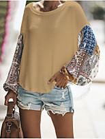 baratos -Mulheres Camiseta Básico / Temática Asiática Estampa Colorida