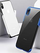 abordables -Coque Pour Apple iPhone XR / iPhone XS Max Antichoc / Plaqué / Ultrafine Coque Couleur Pleine Flexible TPU pour iPhone XS / iPhone XR / iPhone XS Max