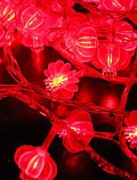 Недорогие -6м Гирлянды 40 светодиоды Красный Декоративная Аккумуляторы AA 1 комплект