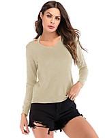 abordables -Tee-shirt Femme, Couleur Pleine Actif / Basique