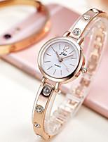 baratos -Mulheres Bracele Relógio Relógio de Pulso Quartzo Relógio Casual imitação de diamante Lega Banda Analógico Elegante Minimalista Dourada - Dourado Prata