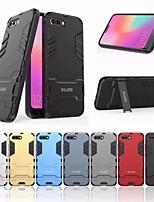 Недорогие -Кейс для Назначение Huawei Honor 10 Защита от удара / со стендом Кейс на заднюю панель Однотонный Твердый ПК для Huawei Honor 10