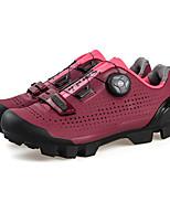 Недорогие -SANTIC Взрослые Обувь для велоспорта / Обувь для горного велосипеда Легкость, Дышащий, Противозаносный Велосипеды для активного отдыха / Велосипедный спорт / Велоспорт / Горный велосипед Черный / Вино