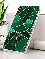 baratos -Capinha Para Apple iPhone XR Anti-poeira / Ultra-Fina / Estampada Capa traseira Estampa Geométrica Macia TPU para iPhone XR