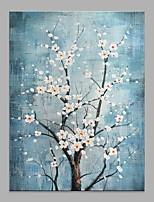 abordables -Peinture à l'huile Hang-peint Peint à la main - Abstrait A fleurs / Botanique Classique Moderne Sans cadre intérieur / Toile roulée